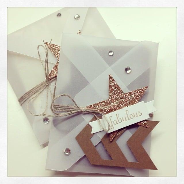 Schnelle Verpackung mit dem Umschlagbrett #stampinup #stempelwiese