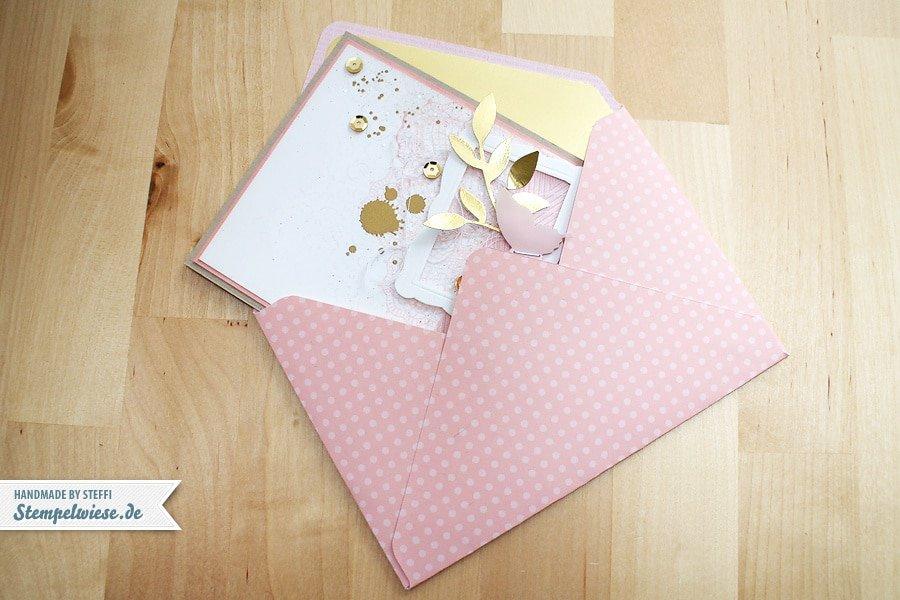 Umschlag mit dem Envelope Punch Board