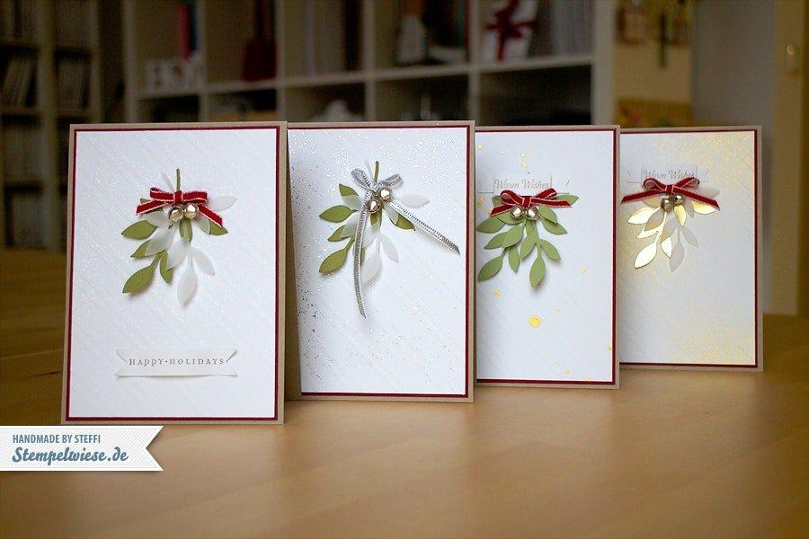 weihnachtskarten im set stempelwiese. Black Bedroom Furniture Sets. Home Design Ideas