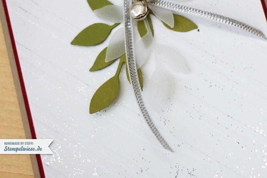 Weihnachtskarte im Set mit Zarter Zweig