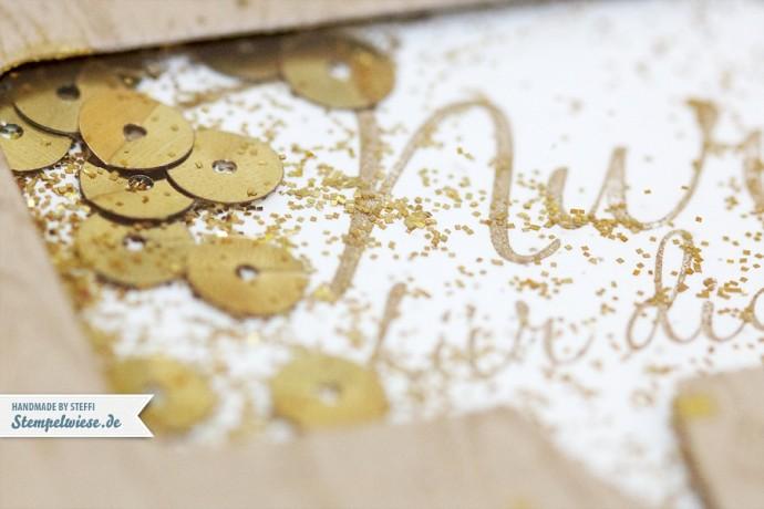 Geburtstagskarte mit Schütteleffekt