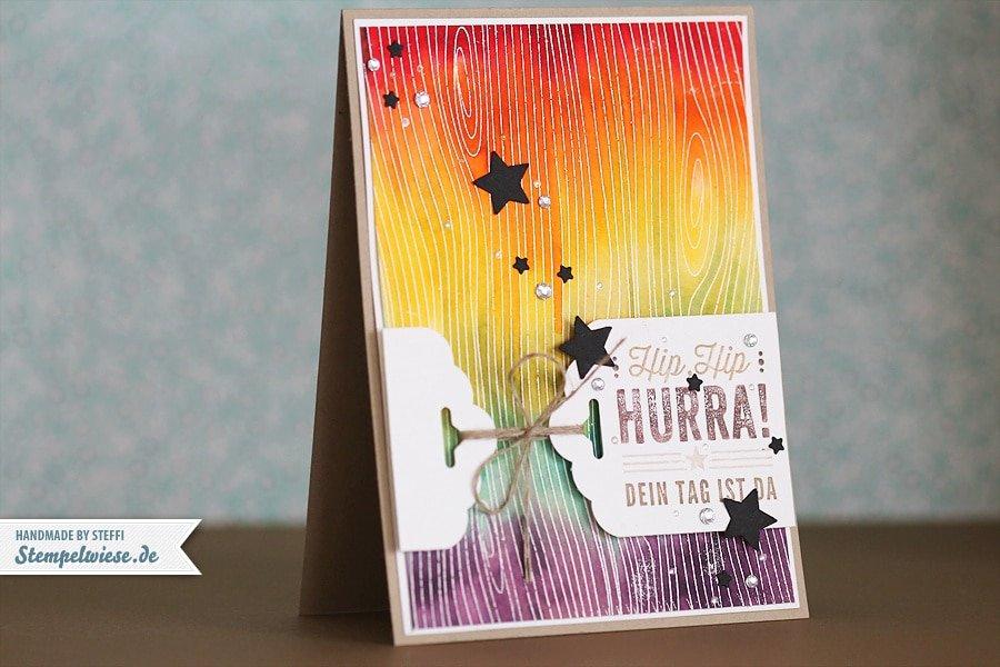 Geburtstagskarte Regenbogen