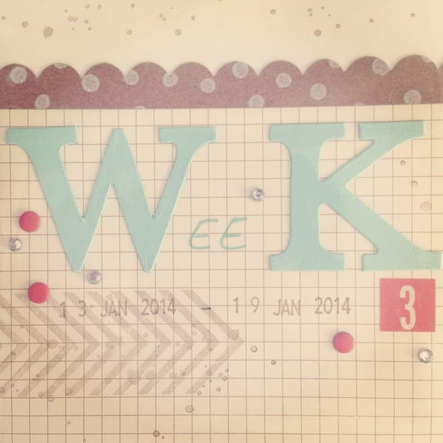 Woche 3 endlich fertig #projectlife #pl #stampinup #stempelwiese