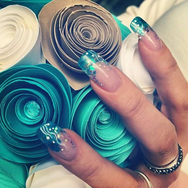 Wedding Beach Nails #miami #nail #naildesign #beach #stempelwiese