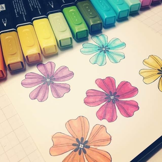 Ohje, da muss ich noch etwas üben :) #stampinup #coloration #blendabilities #stempelwiese