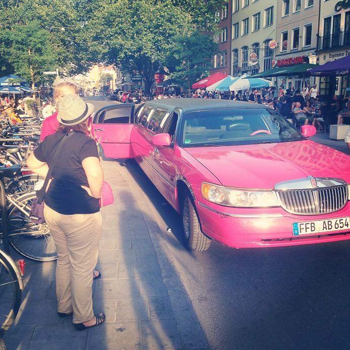 junggesellenabschied münchen pinke limousine