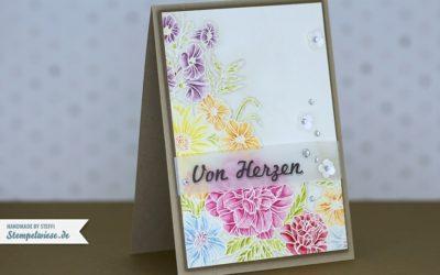 Glückwunschkarte mit Corner Garden