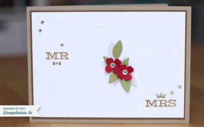 Video – Hochzeitskarte schlicht und einfach