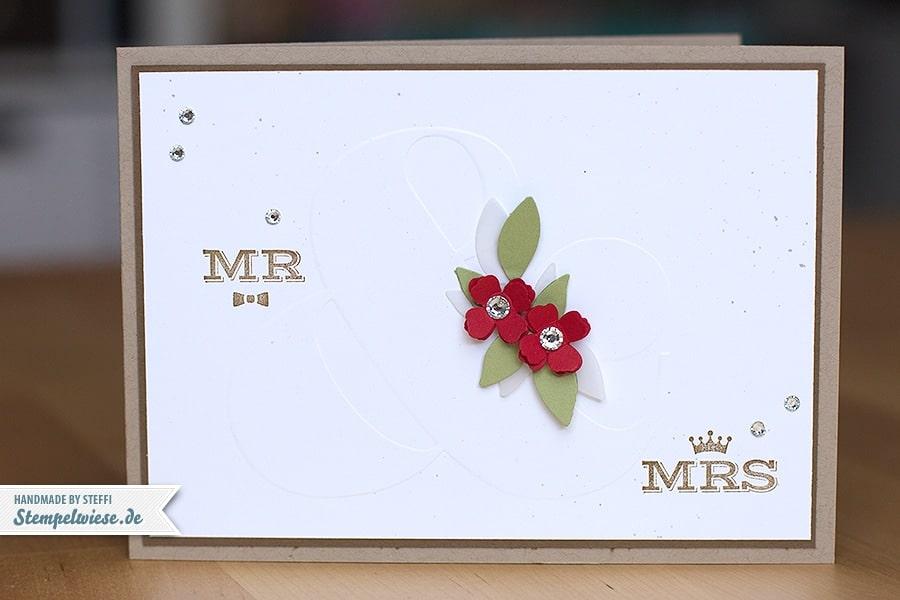 Stampin' Up! - Wedding Card - Hochzeitskarte ❤ Stempelwiese