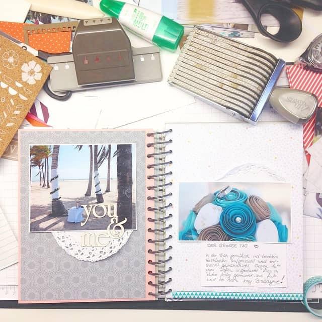 Ich war gestern Abend wieder fleißig. Mein Reisetagebuch füllt sich langsam <3 #reisetagebuch #wedding #hochzeit #stampinup #travel #journal #miami #stempelwiese