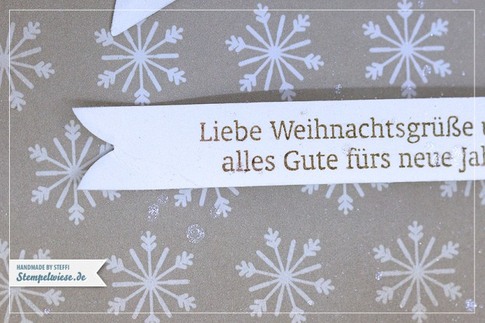 Stampin' Up! - Christmas Card - Framelits Sternen Kollektion ❤ Stempelwiese