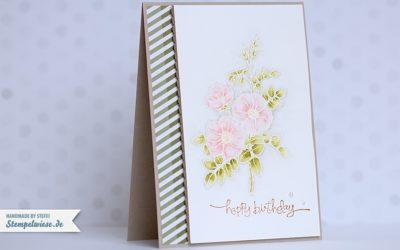 Geburtstagskarte – Sweetbriar Rose