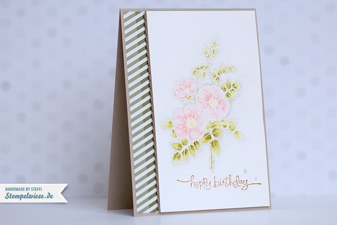Stampin' Up! - Birthday Card - Geburtstagskarte - Sweetbriar Rose ❤ Stempelwiese