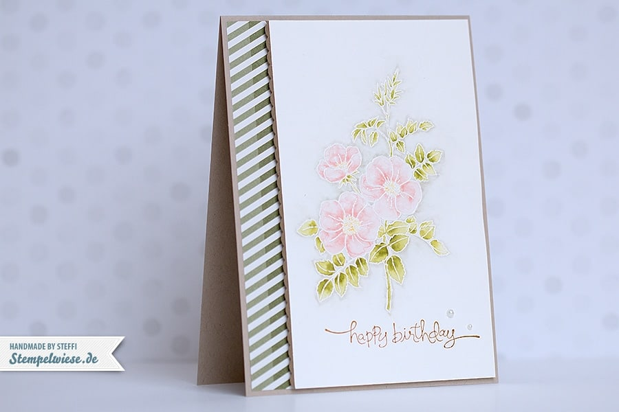 Stampin' Up! - Birthday Card - Geburtstagskarte - Sweetbriar Rose ❤ Stempelwiese