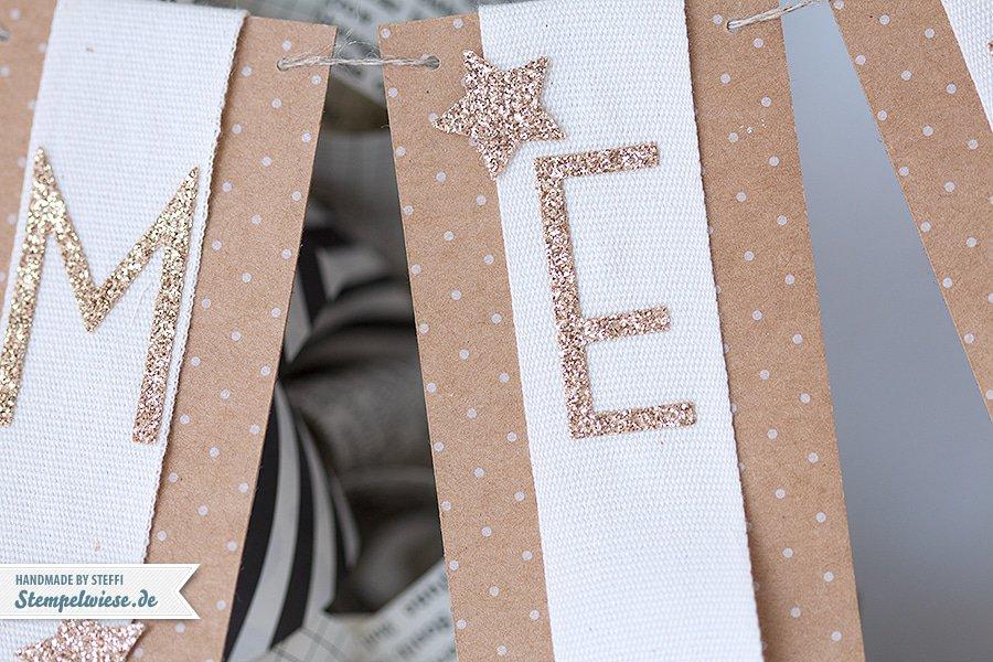 Stampin' Up! - Christmas - Wreath - Türkranz - Papierlocken - Designerpapier - Erstausgabe - Typeset - Banner ❤ Stempelwiese