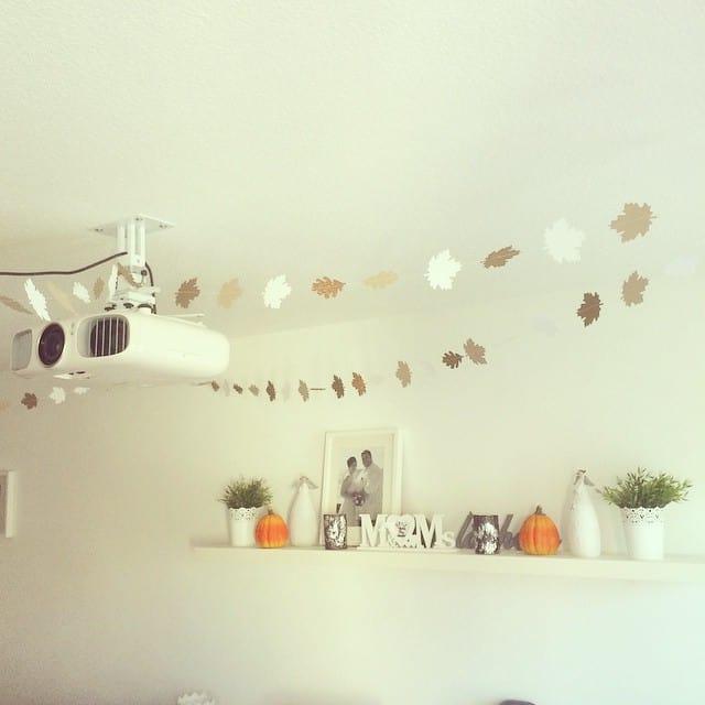 Blättergirlande hängt <3 #stampinup #herbst #herbstzauber #dekoration #girlande #autumn #naehen #stempelwiese