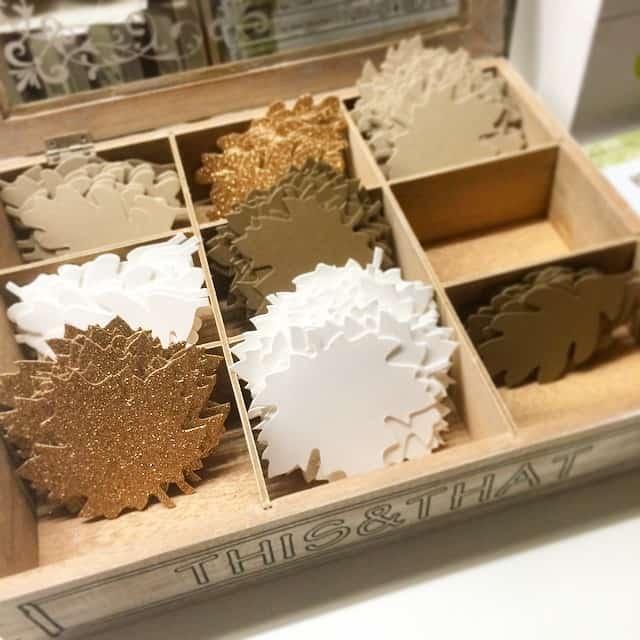 Work-in-Progress-stampinup-glitzer-gold-papier-blaetter-foliage-leaves-herbstzauber-autumn-stempelwi