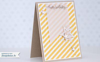 Geburtstagskarte mit Sternchen