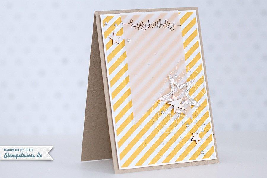 Stampin' Up! - Geburtstagskarte - Birthday Card - Stars - Banner ❤ Stempelwiese
