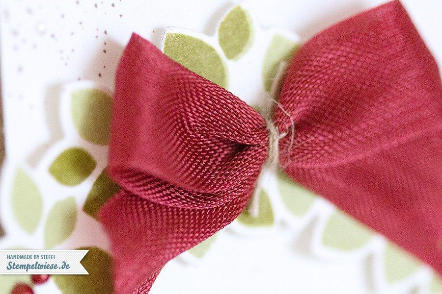 Stampin' Up! - Christmas Card - Willkommen, Weihnacht! - Wondrous Wreath - Framelits ❤ Stempelwiese