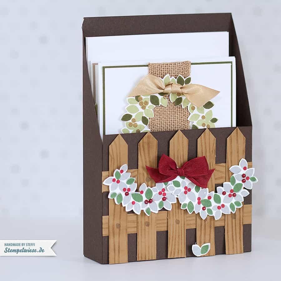 weihnachtskarten im set verpackt stempelwiese. Black Bedroom Furniture Sets. Home Design Ideas