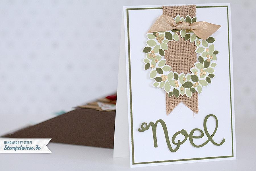 Stampin' Up! - Weihnachtskarten - Set - Weiße Weihnacht - White Christmas - Wondrous Wreath - Willkommen, Weihnacht! - Noel - grün - blau ❤ Stempelwiese
