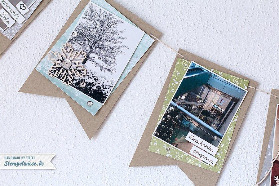 Stampin' Up! - December Daily - Dezembertagebuch - Wimpelkette - Foto Album  ❤ Stempelwiese
