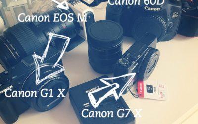 Kameratest – Canon 60D, EOS M, G1 X und G7 X