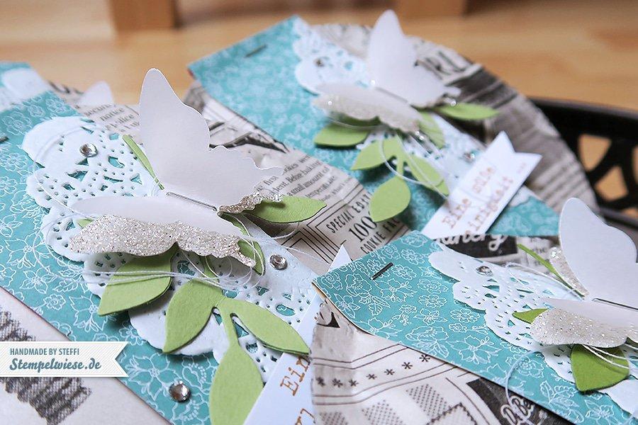 Stampin' Up! - De Beukelaer - Eleganter Schmetterling - Zarter Zweig - Banner - Cookies ❤ Stempelwiese