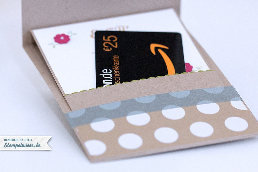 Stampin' Up! - Geschenkkarte - Geburtstagskarte - Gift Card Holder - Thinlits Schmetterlinge ❤ Stempelwiese
