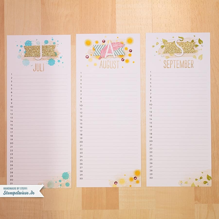 Stampin' Up! - Projektset Kalenderkunst - Perpetual Birthday Calendar - Project Life Tag für Tag - Geburtstagskalender ❤ Stempelwiese