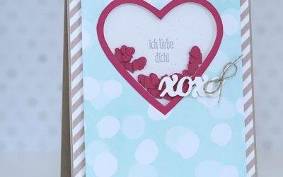 Valentinskarte mit Schütteleffekt
