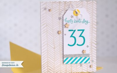 Geburtstagskarte mit Origami T-Shirt