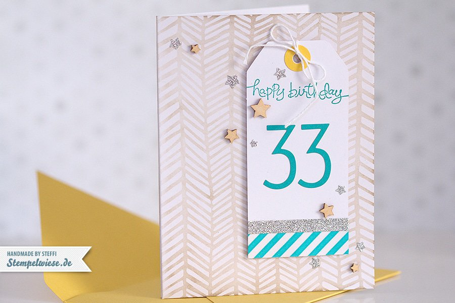 Geburtstagskarte mit Origami T-Shirt • Stempelwiese