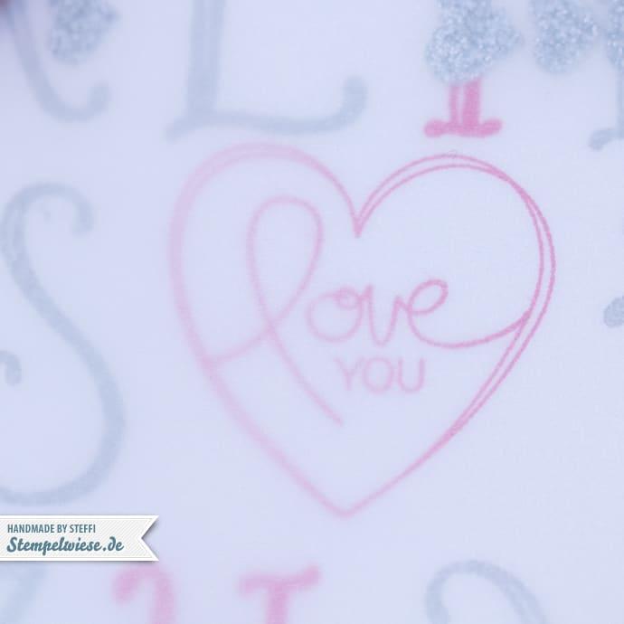 Stampin' Up! - Valentinskarte - Valentinstag - Valentine - Schüttelkarte - Shaker Card - Love You - Notable Alphabet ❤ Stempelwiese