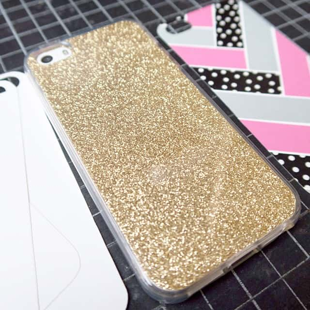 Handyhülle aufpeppen #iphone #washitape #gold #stampinup #casedesign #herringbone #cellphone #pink #glitter #stempelwiese