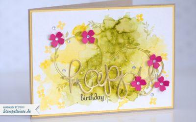 Geburtstagskarte in Aquarell