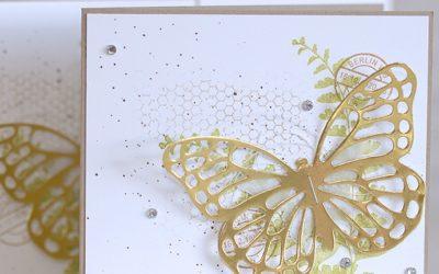 Kleines Grusskärtchen mit Schmetterlingsgruss