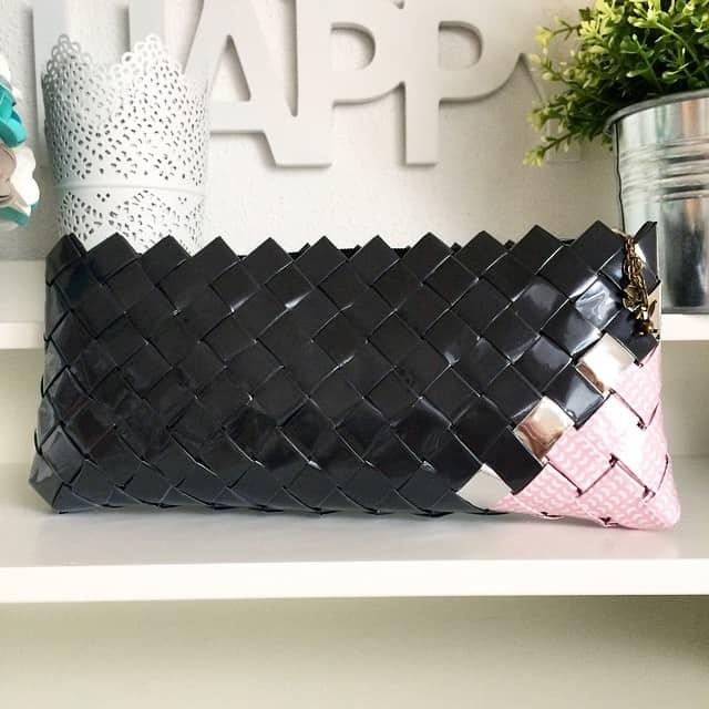 Tausend Dank Monika, die Clutch ist wahnsinnig schön <3 #clutch #geschenk #wovenpaperbag #stempelwiese