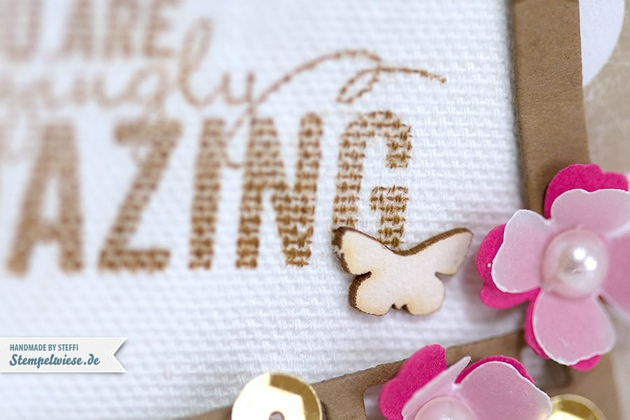 Stampin' Up! - Painted Petals - Gold - Amazing - Itty Bitty Stanzen ❤ Stempelwiese