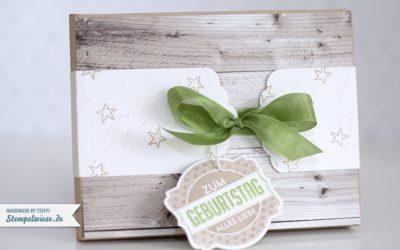 Verpackung für eine Geldbörse aus Holz