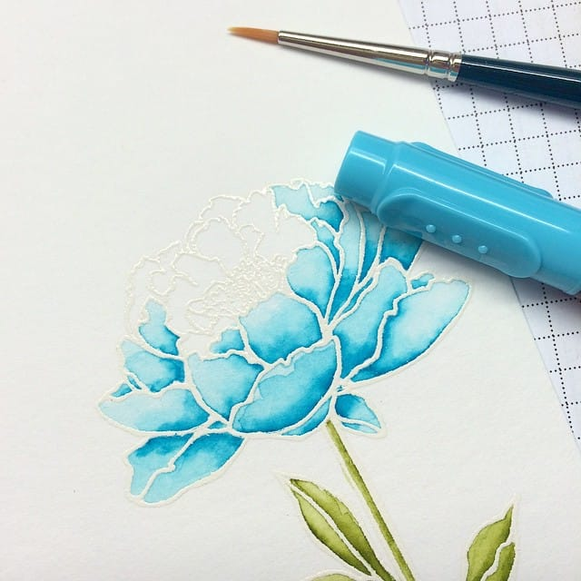Ausmalen #watercolor #aquarell #stampinup #stempelwiese