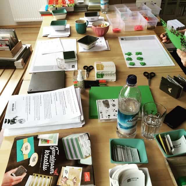 Kataloge versandfertig machen ️ #stampinup #katalog #stempelwiese