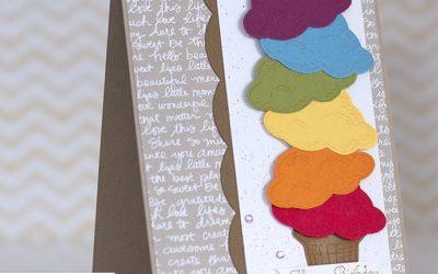 Geburtstagskarte in Regenbogenfarben