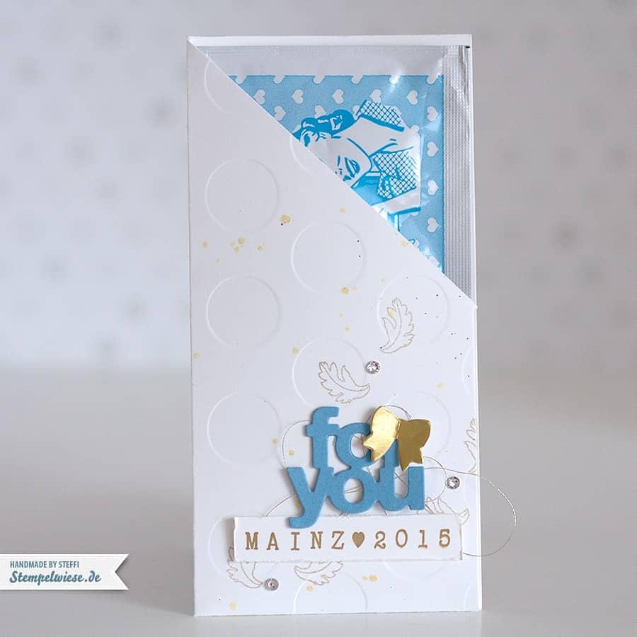 Stampin' Up! - Freundentränen - Verpackung  - Muttis Spucke -Ozeanblau - Gold ❤ Stempelwiese