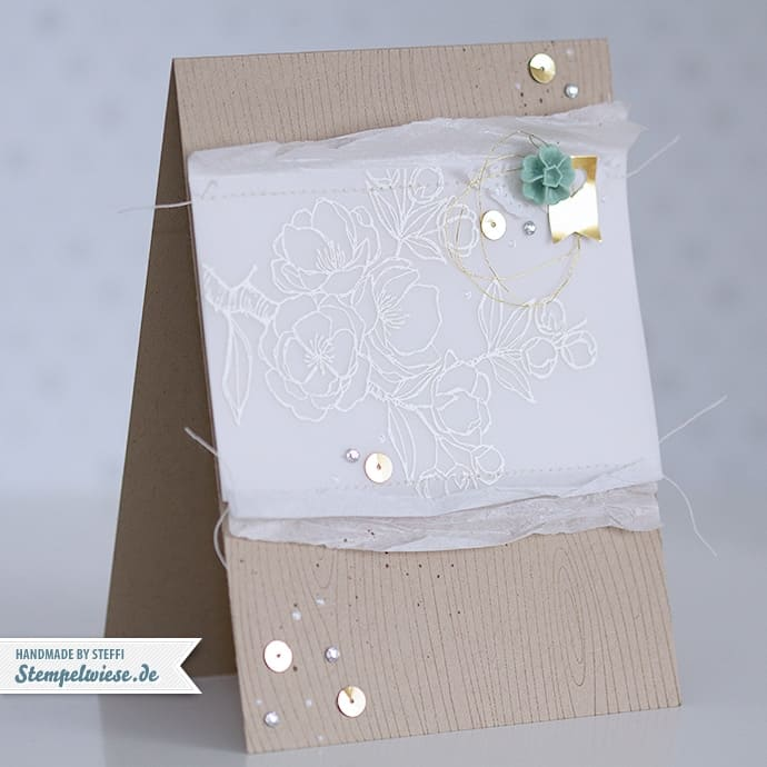 Stampin' Up! - Muttertagskarte - Embossing - Gold - Mint Macaron ❤ Stempelwiese