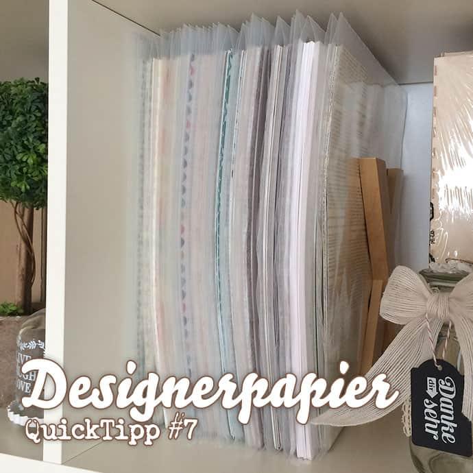 Video - Stampin' Up! Designerpapiere aufbewahren - Ordnungstipp - QuickTipp ❤ Stempelwiese