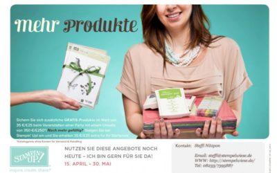 Mehr Gratisprodukte – 35€ geschenkt
