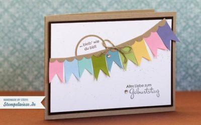 Geburtstagskarte mit Bannerchen