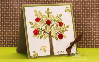 Grußkarte – Apfelbaum